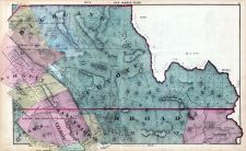 Map 007, Highland, Burnett, San Ysidro, Rhoads, Coyote, Adams, Gilroy, Burnett, Santa Clara County 1876